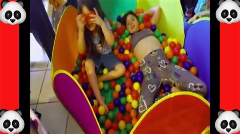 BALL PIT IN OUR HOUSE Crazy Kids Get 22k Balls YouTube