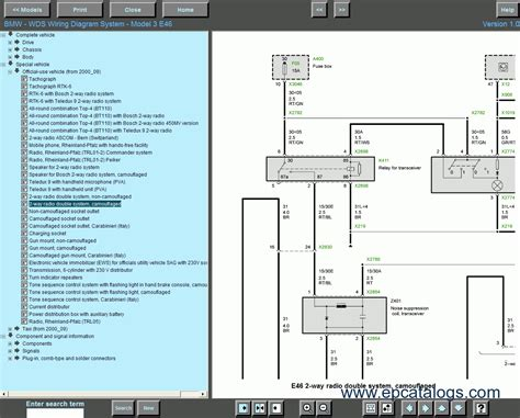 BMW Wiring Diagram System WDS is used to view wiring