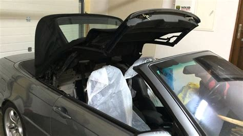 BMW e46 convertible soft top problem does not open