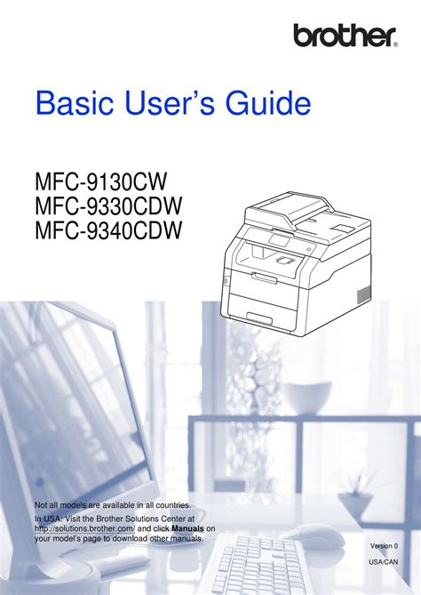 BROTHER MFC 9130CW BASIC USER S MANUAL Pdf Download