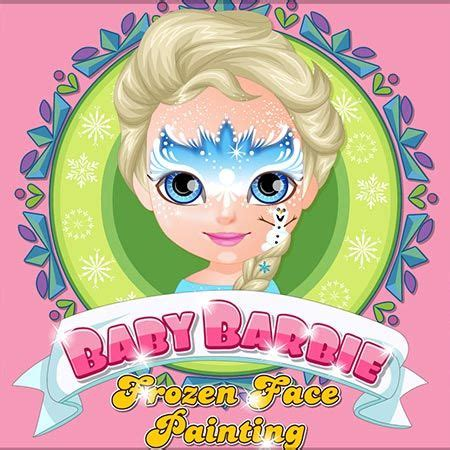 Baby Barbie Frozen Face Painting Free Girl Games Online
