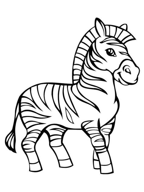 Baby Zebra coloring page for kids animal coloring pages