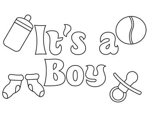 Baby shower celebration coloring page Free Printable