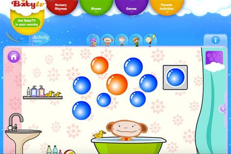 BabyTV Free Baby Games Oliver s World of Colours