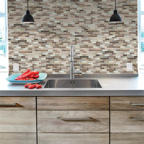 Backsplash Mosaic Tile Tile The Home Depot