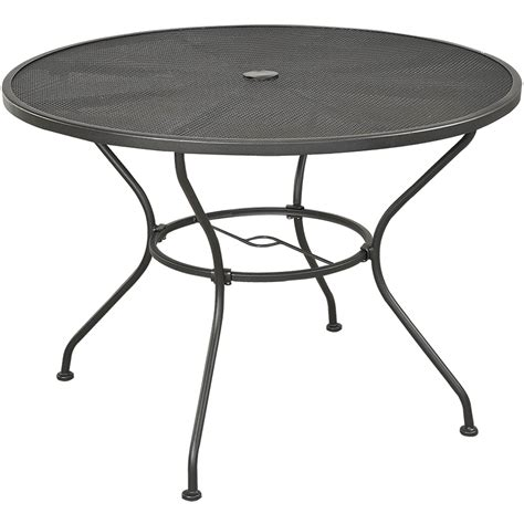 Backyard Creations Wrought Iron Round Dining Patio Table