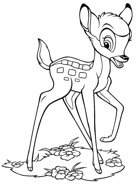 Bambi Coloring Page Disney Family