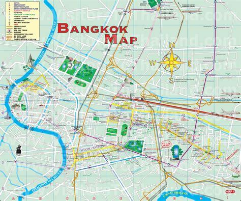 Bangkok Metropolis Map Thaiways Magazine Thailand