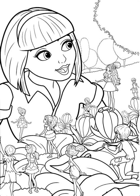 Barbie Thumbelina coloring pages Free Coloring Pages