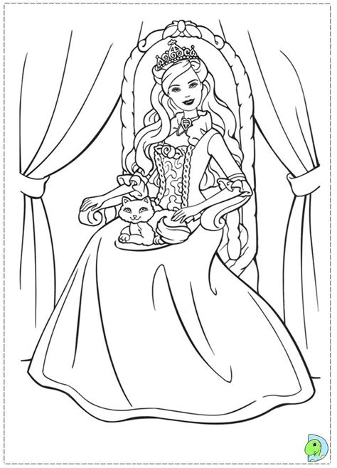 Barbie as the Princess and the Pauper coloring pages on