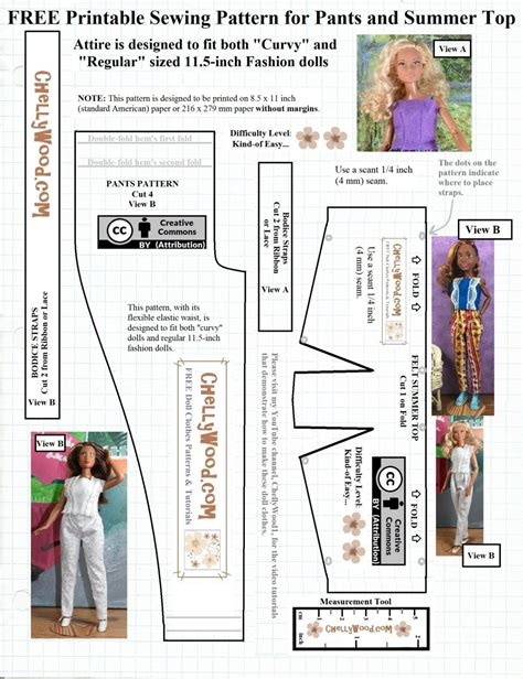 Barbie fashion dolls and Baby doll clothes patterns