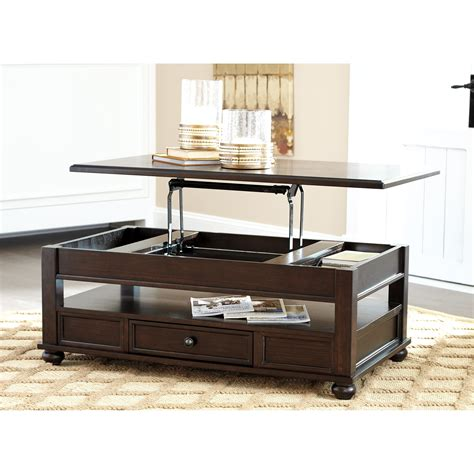 Barilanni Coffee Table with Lift Top Ashley Furniture