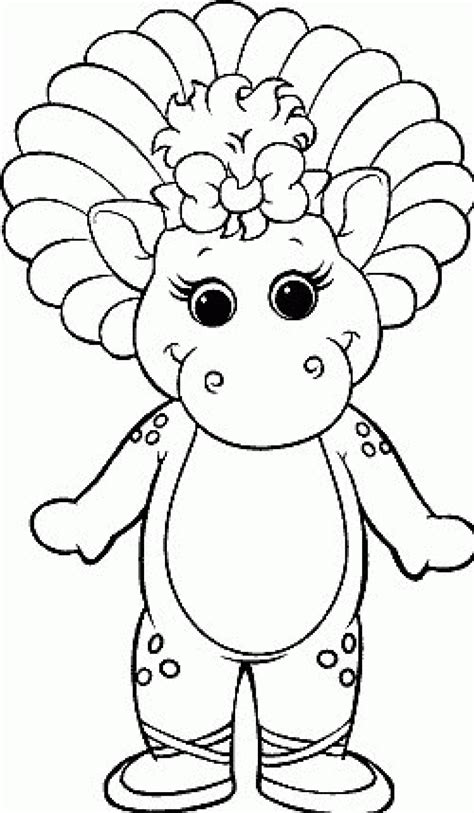 Barney Coloring Page baby bop coloring page All Kids