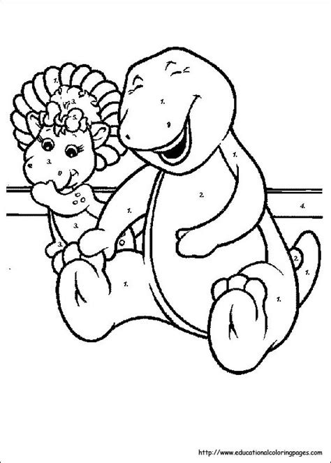 Barney Coloring Pages Educational Fun Kids Coloring
