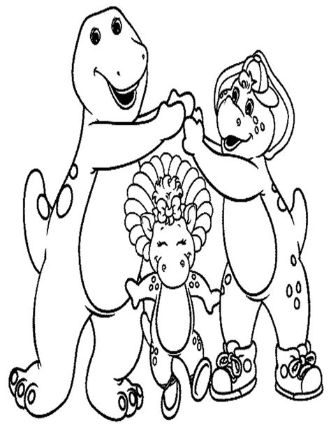 Barney Coloring Pages For Kids 1331 thecoloringpage