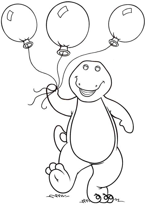 Barney Coloring Pages Free and Printable