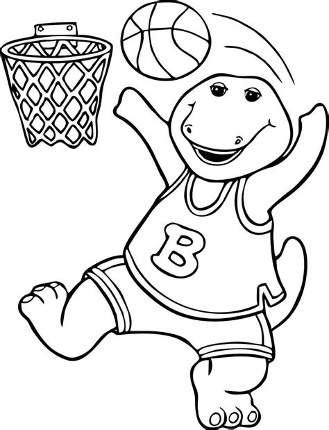 Barney Coloring Pages Print Barney Pictures to Color
