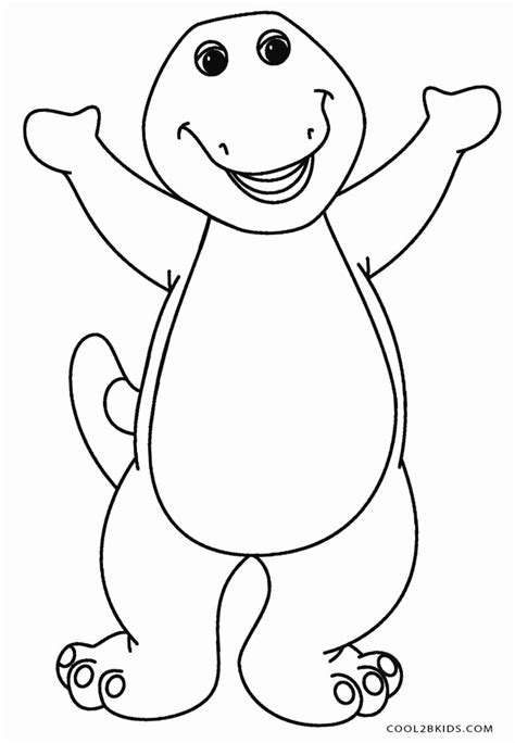 Barney Coloring Pages for Kids to Color and Print