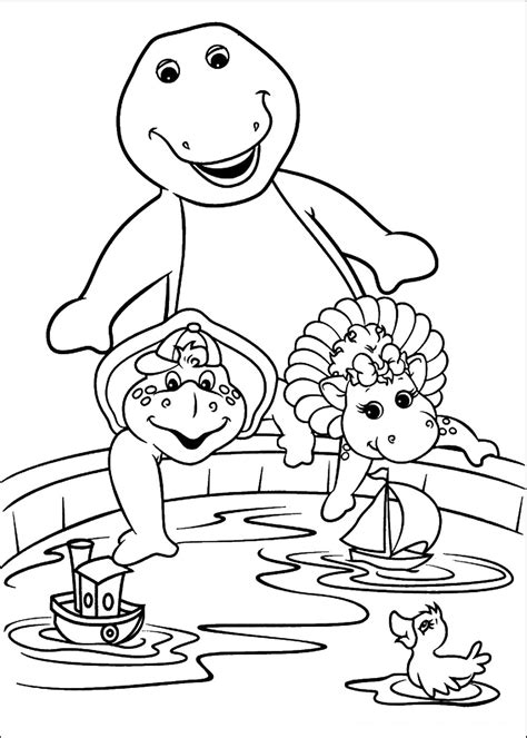 Barney Coloring Pages to print and color
