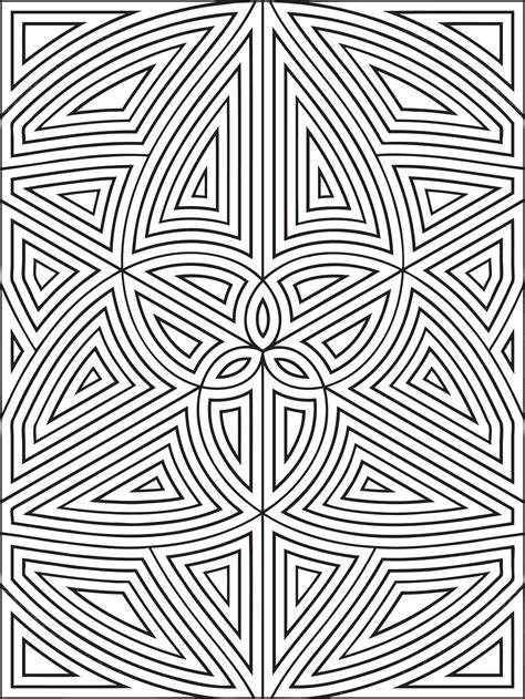Basic Geometric Shapes coloring page Free Printable