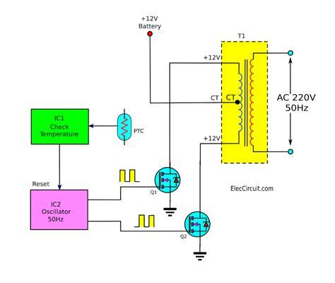 Basic Inverter Electronic Circuit Diagram