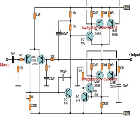 Basic Inverter Electronic Circuit Diagram Schematic