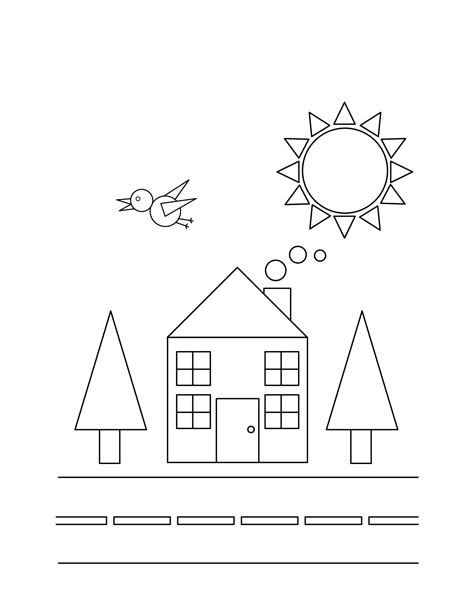Basic Shapes Coloring Pages Free and Printable