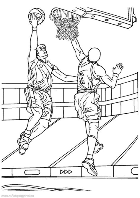 Basketball player Free Online Coloring Page