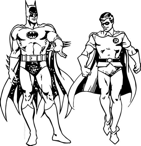 Batman and Robin Online Coloring Page Kid s Search