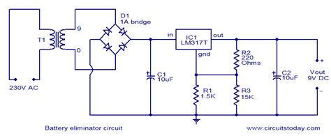 Battery eliminator circuit Electronic Circuits and