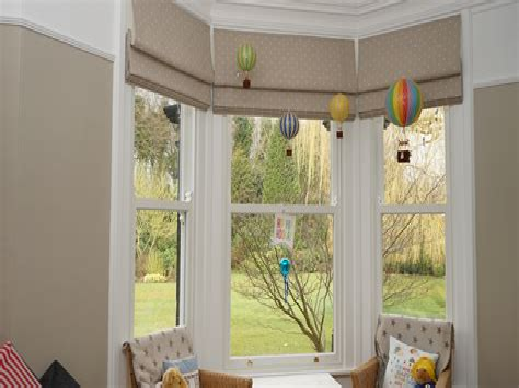 Bay Window Roman Blinds Montgomery
