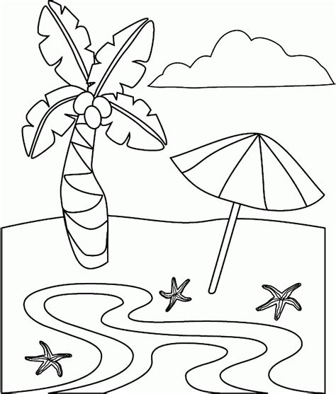 Beach Coloring Pages gotyourhandsfull