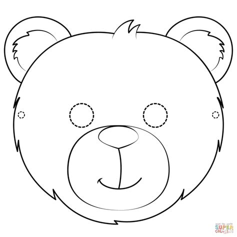 Bear Mask Printable Templates Coloring Pages