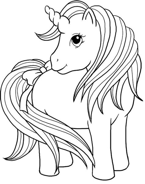 Beautiful Unicorn coloring page Free Printable Coloring