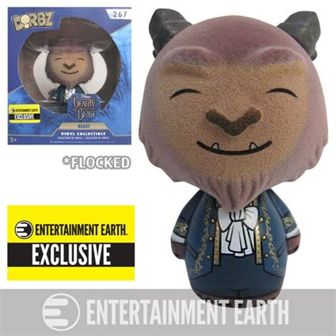 Beauty and the Beast Live Beast Flocked Dorbz EE Excl
