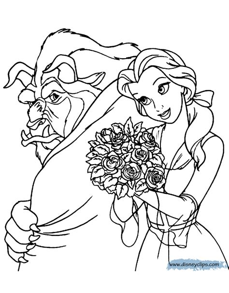 Beauty and the Beast coloring pages Free printable Disney