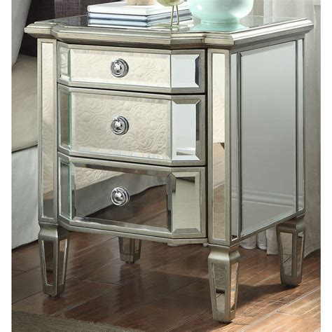 Bedside Tables Chests Small Mirrored Bedside Next