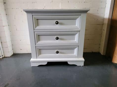Bedside Tables White Black Wooden Super Amart