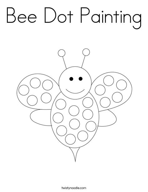 Bee dot to dot Free Printable Coloring Pages