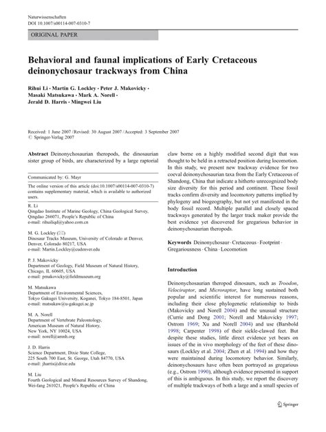 Behavioral and faunal implications of Early Cretaceous