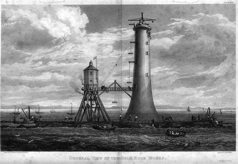 Bell Rock Lighthouse A stone tower in stormy seas Pie