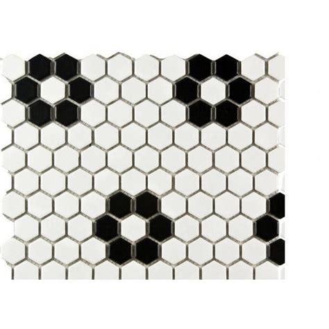 Beltile Hexagon Porcelain Mosaic Tiles Tile and Stone