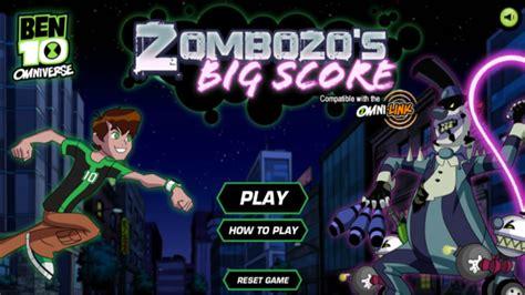 Ben 10 Games Zombozo s Big Score Cartoon Network
