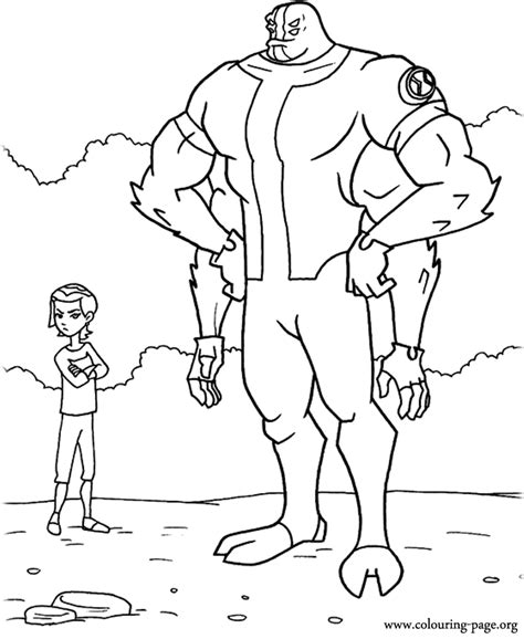 Ben 10 Gwen Tennyson and Four Arms coloring page
