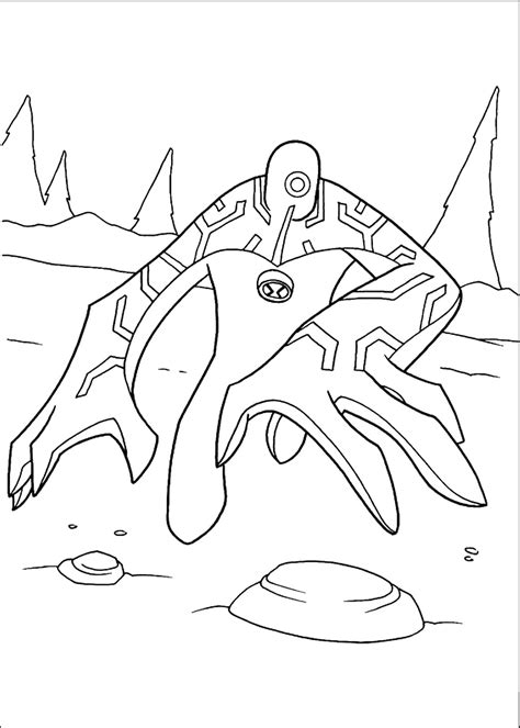 Ben 10 coloring pages Free printable coloring sheets for