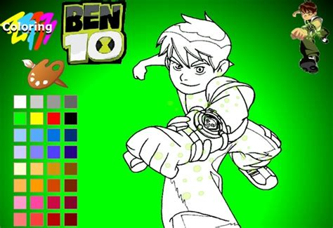 Ben10 Coloring Girl Game Didigames