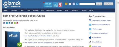 Best Free Children s eBooks Online Gizmo s Freeware