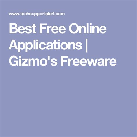 Best Free Online Applications Gizmo s Freeware