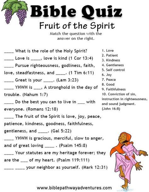 Bible Activities Fun Trivia Contest For Kids Bible