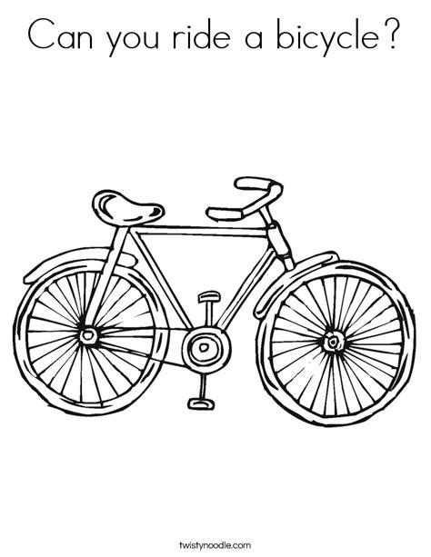 Bike Coloring Page Twisty Noodle